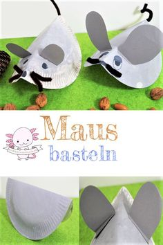 Eine Maus basteln mit Papiertellern - Basteln mit Kindern Make a mouse. Frederick the Mouse is a gre Fun Crafts For Kids, Preschool Crafts, Diy For Kids, Mickey Mouse Crafts, Gender Reveal Party Games, Mermaid Crafts, Alphabet Crafts, Paper Plate Crafts, Paper Plates
