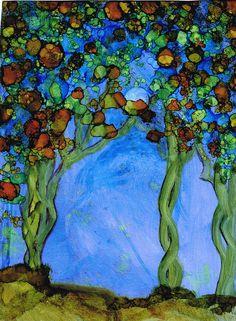 Blue Autumn Painting  - Blue Autumn Fine Art Print