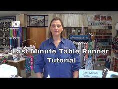 Last minute table runner. - YouTube