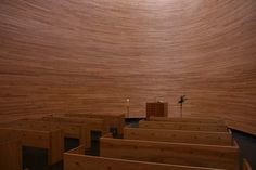 Helsinki, Kamppi Chapel #Helsinki #Architecture #K2SArchitects