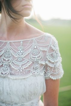 Gorgeous beaded wedding gown