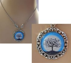 Silver Celtic Tree of Life Pendant Necklace Jewelry Handmade NEW Blue Fashion adjustable accessories by britpoprose99 on Etsy