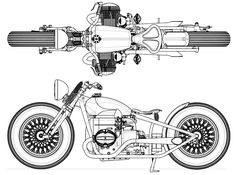 bmw Bobber Drawing