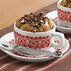 Double Coffee Tiramisù      For festive holiday flair, prepare these individual desserts in mugs or ramekins. Chocolate curls complete the presentation.