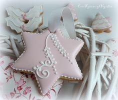 Galletas de navidad decoradas con glasa