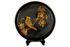 Chinoiserie Wood Plate w/ Stand on OneKingsLane.com