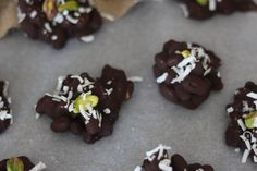 Salted Chocolate Coconut Pistachio Clusters