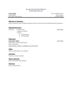 Blank Cv Template To Print XkgplZd  Stuff To Buy