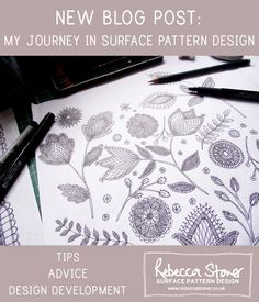 "NEW BLOG POST: ""My Journey (so far) In Surface Pattern Design"" by Rebecca Stoner http://rebeccastoner.co.uk/my-journey-so-far-in-surface-pattern-design/"