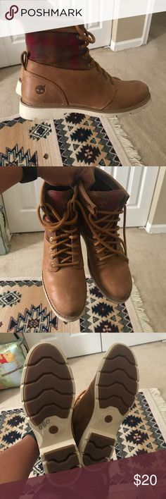 Women's Timberland Boots - Worn Once! Women's Timberland Boots, unique and worn only once!!  Make me an offer! Timberland Shoes Combat & Moto Boots