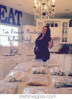 10 Freezer Meals to Make Before Baby Easy, Affordable, Fast! www stefaniegass com is part of Freezer meals - Make Ahead Freezer Meals, Crock Pot Freezer, Freezer Cooking, Freezer Recipes, Meal Prep Freezer, Chicken Freezer Meals, Meals Easy To Freeze, Fast Crockpot Meals, Freezer Dinner
