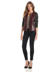 Rachel Roy Collection Women's Ponte Leather Mix Jacket, Plum/Grey Melange, Medium Rachel Roy Collection,http://www.amazon.com/dp/B00CMN6WLE/ref=cm_sw_r_pi_dp_1P4-rb0BV28SSD5H