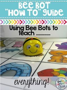 Bee Bots | Bee Bot mats | Coding with kids| Get ready to code with your kindergarten and first grade class. Get a free Donors Choose guide, and a free mat