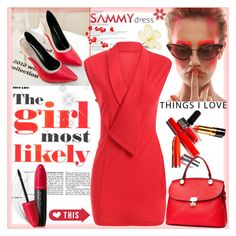 """""""Work Dress"""" by sirena39 ❤ liked on Polyvore featuring Revlon"""
