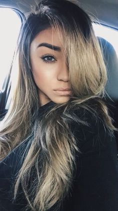 Long hair and gorgeous color.