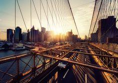 New York - Brooklyn Bridge Sunset