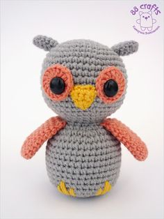 88 Crafts: owlet (+ description). And makaruns :)  FREE PATTERN 12/14.