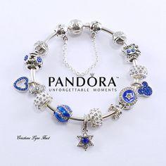 Authentique bracelet PANDORA rigide en argent sterling  avec