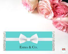 Teal Chocolate Wrapper   Birthday   Baby Shower   Bridal Shower   Wedding   Bachelorette   Personalised   Digital   Printable