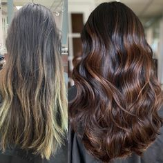 You may want to have bright blonde hair, however it may not be what suits you best!Check out the difference between her grown out blonde and this new dimensional Sunsette Brunette 🤩 If you want to learn more about our techniques send us a DM to find out more about our upcoming classes 💛 #modernsalon #balayage #balayagehair #behindthechair #hairbylima #balayagehighlights #allmodernhair #truss #balayageombre Balayage Brunette, Balayage Highlights, Balayage Hair, Balayage Before And After, Bright Blonde Hair, Balayage Technique, Hair Painting, Hair Art, Fall Hair