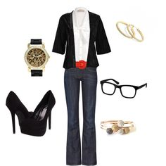 Teacher Chic, created by alanad23 on Polyvore