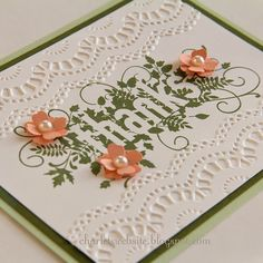 Charlet's Website: Thanks card from the Seasonally Scattered stamp set from Stampin' Up! Holiday Mini. Convention 2014 display samples.