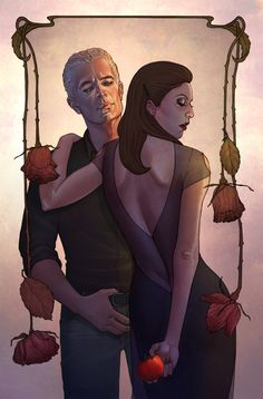 Drusilla and Spike - Buffy the Vampire Slayer - Jenny Frison Spike Buffy, Buffy The Vampire Slayer, Joss Whedon, Fangirl, Buffy Summers, Angel Art, Illustrations, First Girl, Fanfiction