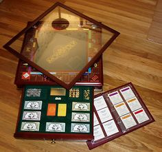 Franklin Mint Monopoly Game Deluxe Edition w/ Glass Top - great condition