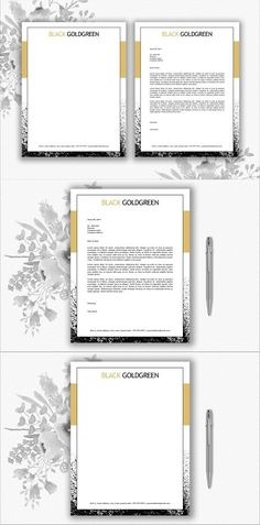 Art Deco Church Letterhead Template  Letterhead Template
