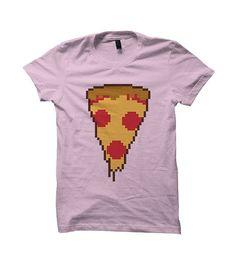 8 Bit Pizza Shirt, Men Shirts, Cool Shirts, 8 Bit Art, Pizza Shirt, Pizza Shirt Designs, Funny Shirts, Novelty Shirts, Burger Clothing