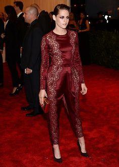 Kristen Stewart in Stella McCartney Marsala coloured dress