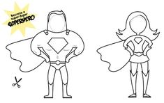 Create your own Superhero Puppet - Superman! Great DIY papercrafts