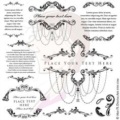 Ornate frames vintage wedding decoration old style vector clipart wedding or small business logos clipart vintage style chandelier weddinginspiration businesswoman logodesign junglespirit