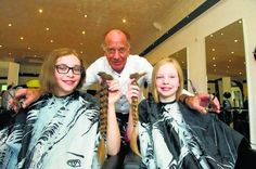 Greenock sisters donate 44 inches of their hair to kids' cancer charity | Greenock | News | Greenock Telegraph