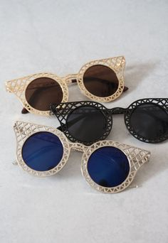 Gold Cut-Out Sunglasses | Shalex