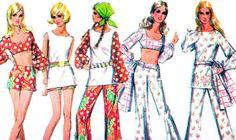 McCalls 2283 1970s Womens Mod Midriff Top Tunic Hip by paneenjerez, $12.00