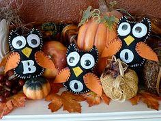 Halloween BOO Owl Trio