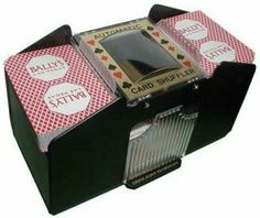 1-4 Deck Automatic Playing Card Shuffler by Old Vegas Poker Chips. $10.99. 1-4 Deck Automatic Card Shuffler This Automatic Card Shuffler shuffles both standard & bridge sized playing cards. FREE 2 Decks of Playing Cards Included