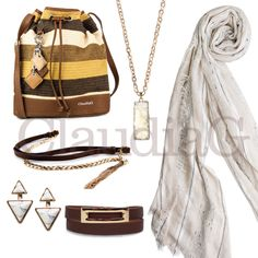 LOOK 7, White and Sienna - ClaudiaG Collection