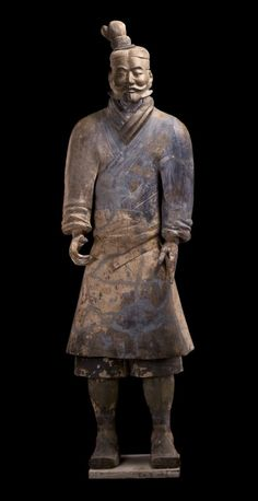 Terra-cotta figure of a soldier, Qin Dynasty, 221 - 206 BC. Just plain awesome.