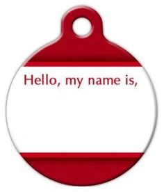 Dog Tag Art Custom Pet ID Tag for Dogs - 'Hello, my name is' - Large - 1.25 inch >>> You can find more details by visiting the image link.