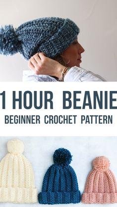 Slouchy Beanie Pattern, Crochet Beanie Pattern, Headband Crochet, Knit Crochet, Tunisian Crochet, Crochet Dolls, Beginner Crochet Hat, Easy Crochet Baby Hat, Chunky Crochet Scarf