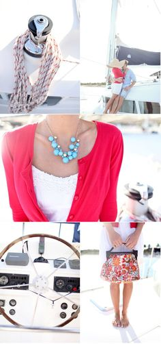 Love the mix of bright pink, white and turquoise from @stylemepretty.com