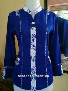 Baju dinas Blouse Batik, Batik Dress, Muslim Fashion, Hijab Fashion, Batik Muslim, Mode Batik, Shirt Collar Styles, Batik Fashion, Blouse Models