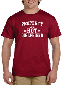 Funny Gift For Boyfriend Property of A Hot Girlfriend Long Distance Relationship Gifts Tshirt Tee Gifts Long Distance Relationship.