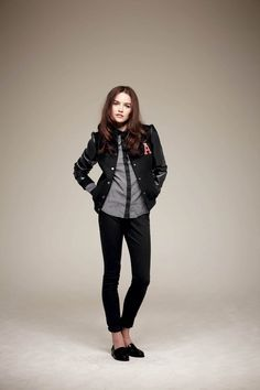 love the school style (and btw, love the shirt, the jacket, the slims and the shoes, too) - pimkie fall'11 lookbook
