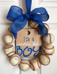 It's a Boy Baseball Wreath by DoorsGoneWild on Etsy