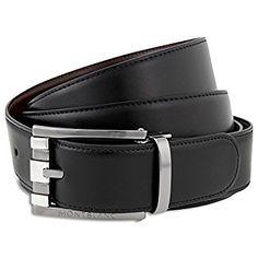 Mont Blanc 'Casual Line' Men's Belt - 103445 at Amazon Men's Clothing store: Apparel
