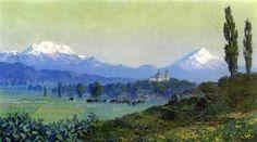 Vista de los volcanes desde Tezoquiapan by Guillermo Gómez Mayorga