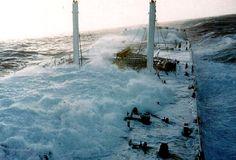 Ship in heavy seas
